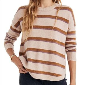 💟 NWT Madewell Striped Pullover Sweater size M